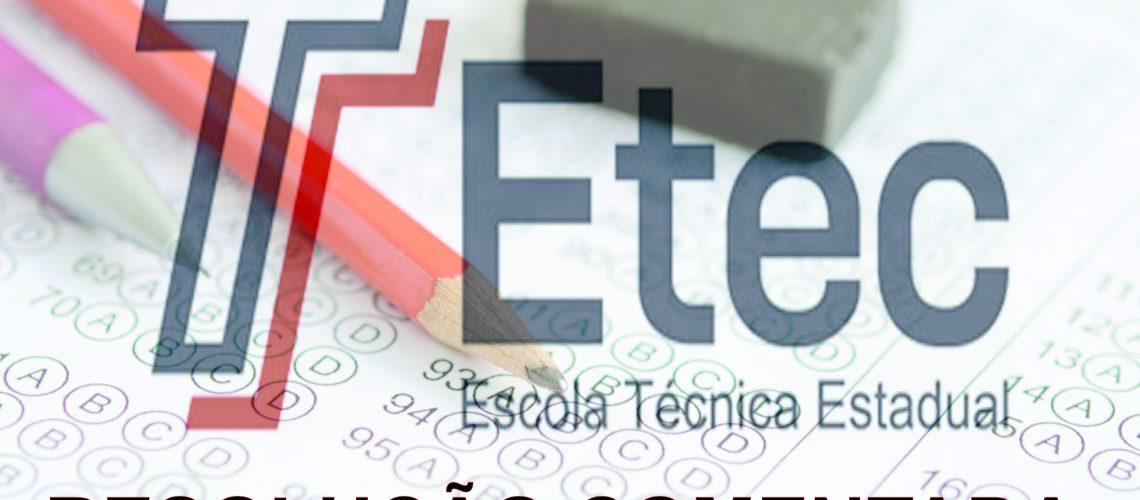 PROVAS ETEC RESOLVIDAS